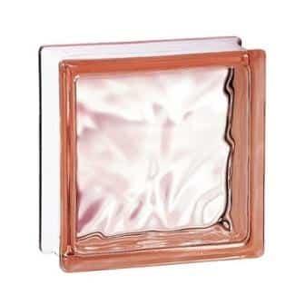 Luksfer pustak szklany 198 Pink Flemish E 60 EI 15 La Rochere