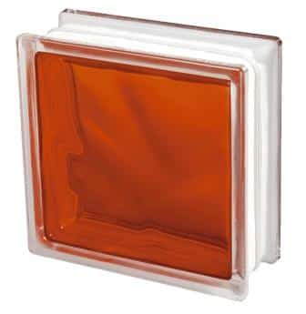 Pustak szklany luksfer 1919/8 Wave Brilly Orange Seves Basic