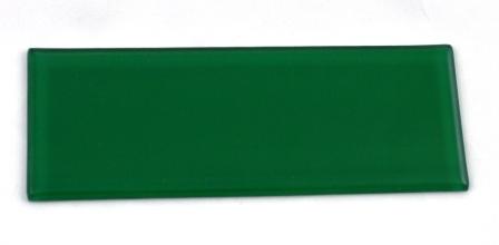 Zielona matowa płytka wykończeniowa do luksferów