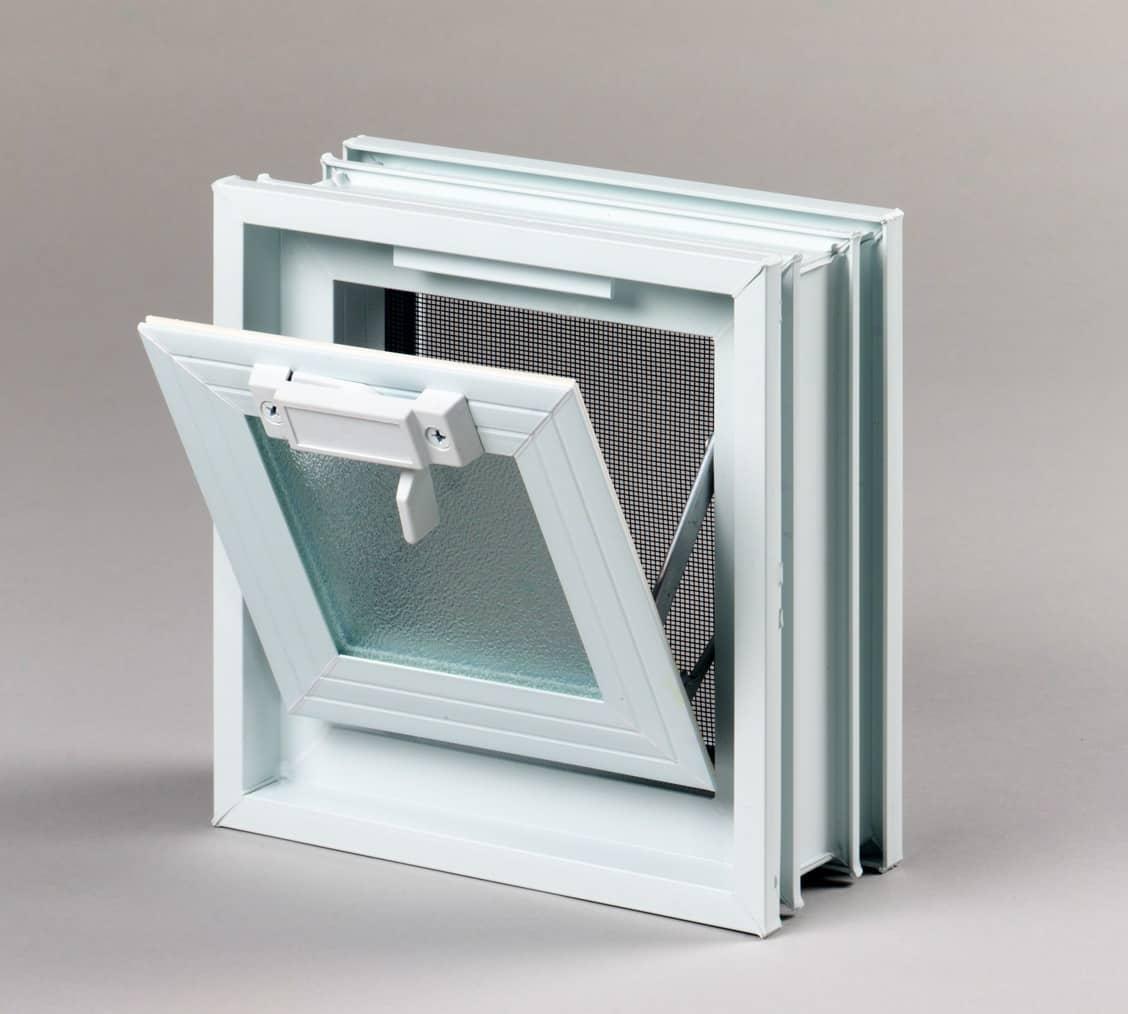 Okno wentylacyjne do luksferów Okno Wentylacyjne 1/1 do pustaków szklanych 19x19x8. Imoprter Glasspol Maciej Załuski