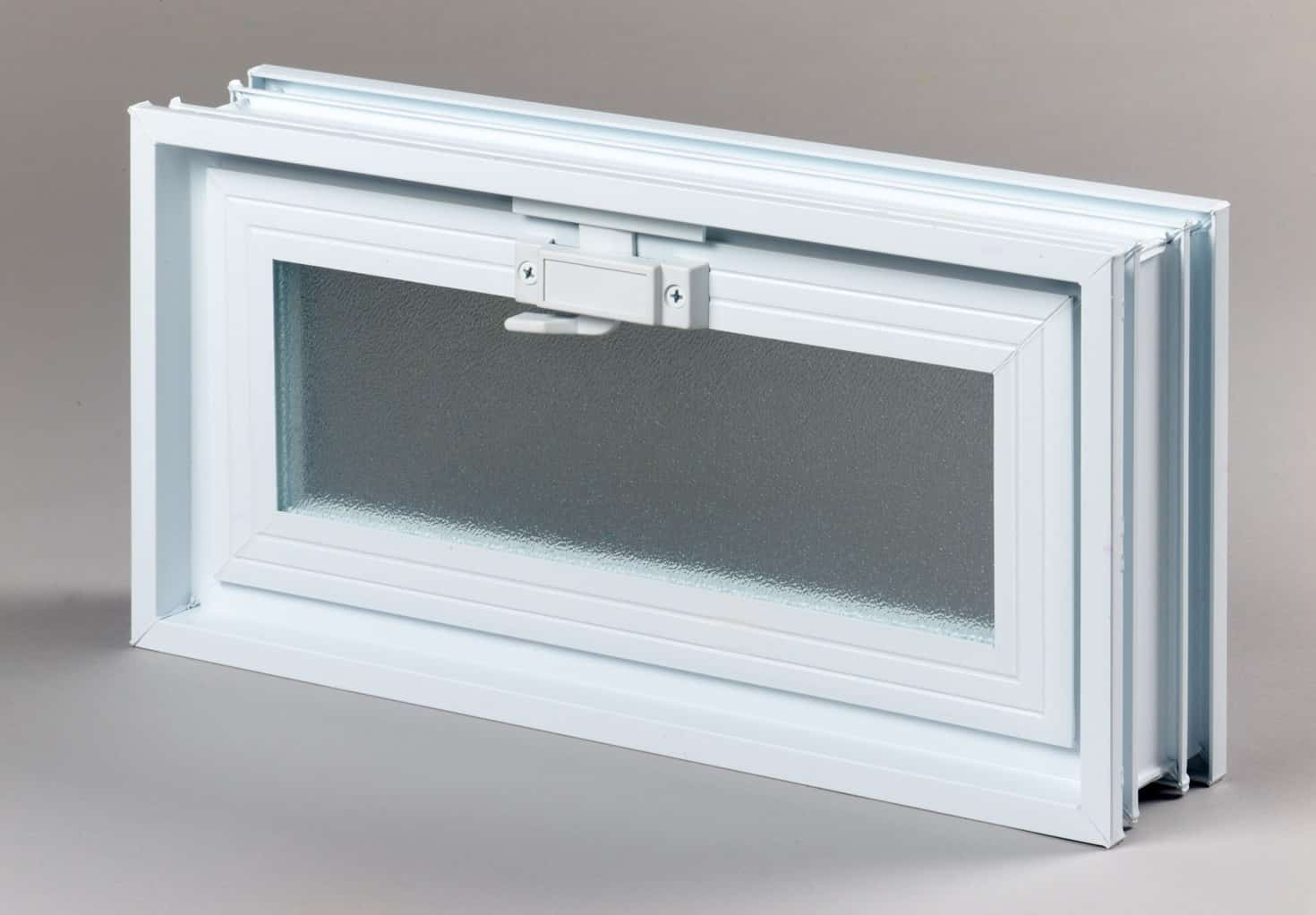 Okno wentylacyjne do luksferów Okienko wentylacyjne (went) 2 x 1 do luksferów