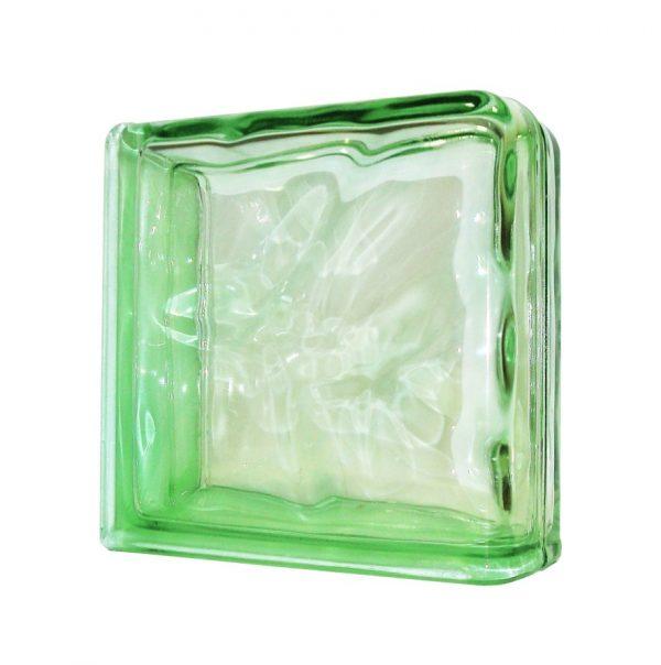 1919/8 Wave Green Double End chmurka pustak szklany wykończeniowy luksfer