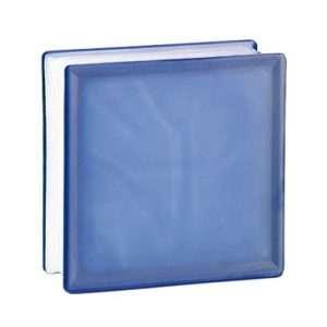 198 Cobalt Flemish satynowany z jednej strony pustak szklany luksfer