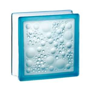 198 Azure Bubble satynowany z jednej strony pustak szklany luksfer