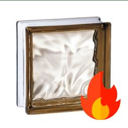 198 Bronze Flemish EI15 E60 pustak szklany luksfer 19x19x8