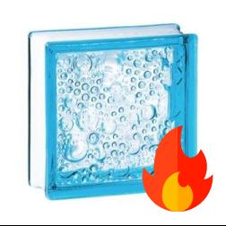 198 Azure Bubble EI15 E60 pustak szklany luksfer