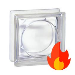 198 Transparent Round EI15 E60 19x19x8 cm pustak szklany luksfer