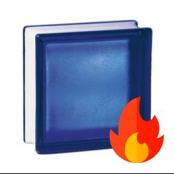 198 Cobalt Frosted EI15 E60 pustak szklany luksfer