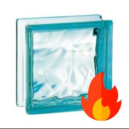 198 Azure Flemish EI15 E60 pustak szklany luksfer
