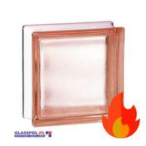 198 Pink Frosted EI15 E60 satynowany jednostronnie pustak szklany luksfer