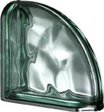 Ter Curved Verde O Met pustak szklany luksfer