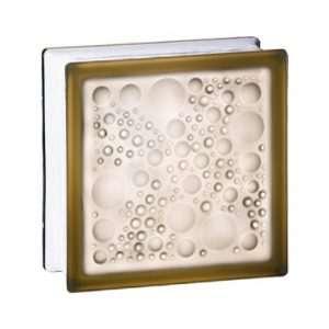 198 Bronze Bubble satynowany z jednej strony pustak szklany luksfer