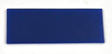 Niebieska płytka wykończeniowa do pustaków szklanych luksferów