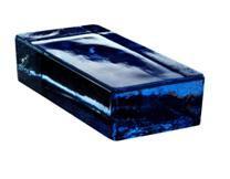 Cegła szklana niebieska