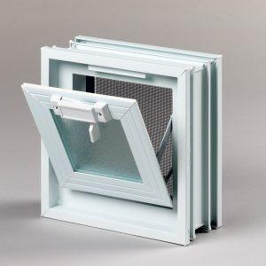 Okno wentylacyjne Went 1/1 do pustaków szklanych luksferów