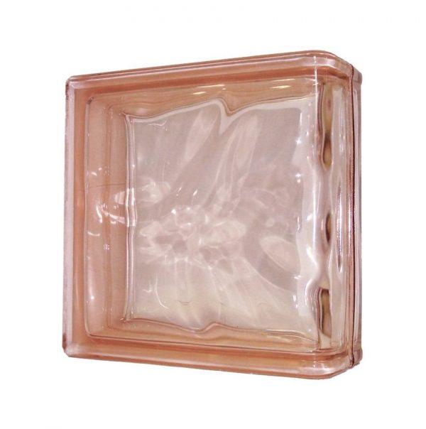 1919/8 Wave Pink Linear End chmurka pustak szklany wykończeniowy luksfer