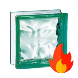 198 Green Flemish EI15 E60 pustak szklany luksfer