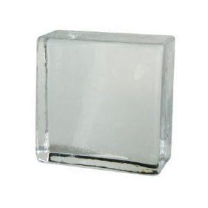 Cegła szklana bezbarwna połówka. Glasstein Crystal Collection Clear 10 x 10 x 5 Glasspol